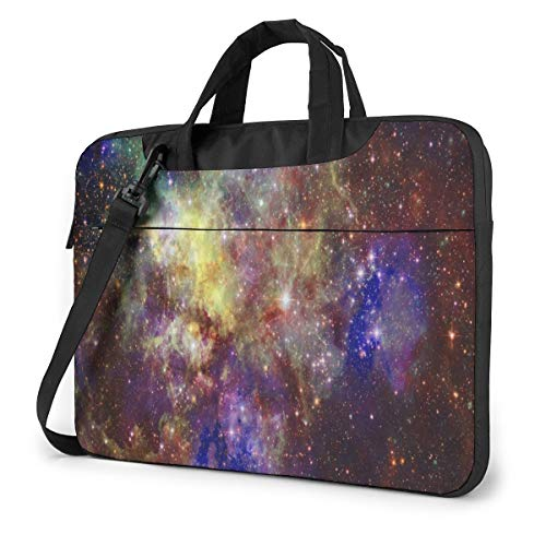 Cosmic Galaxy Abstract Space Background Laptop Carrying Case Shoulder Bag Briefcase W/Strap Women Men 13'