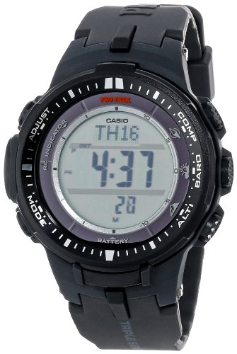 Casio Men's Pro Trek PRW-3000-1CR Tough Solar Triple Sensor Multi-Function Watch Change Time Casio G-shock Watch