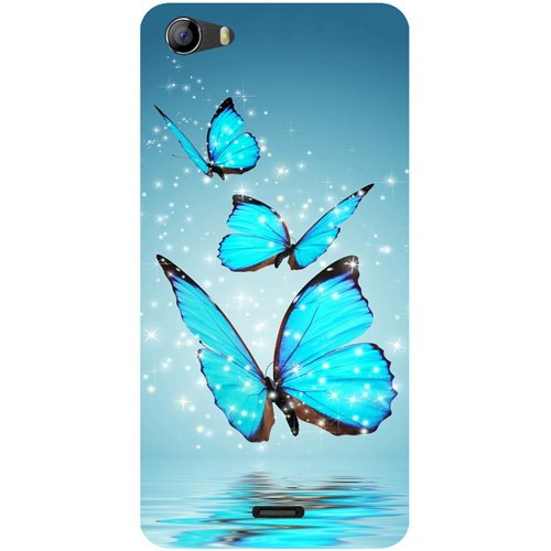 Casotec Flying Butterflies Design Hard Back Case Cover for Micromax Bolt Q338