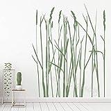 Lang Gras Blumen Baum Wandaufkleber Lange Schilf Dekoration Wohnzimmer Sofa Hintergrund Schlafzimmer Wandtattoo Kinder Wandbild Größe:56 * 72cm