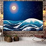 Japan Kanagawa Waves Printed Hanging Tapestry Wall Art For Home Deco Living Room Bedroom Wall Art Yoga Mat Blanket Home Decor