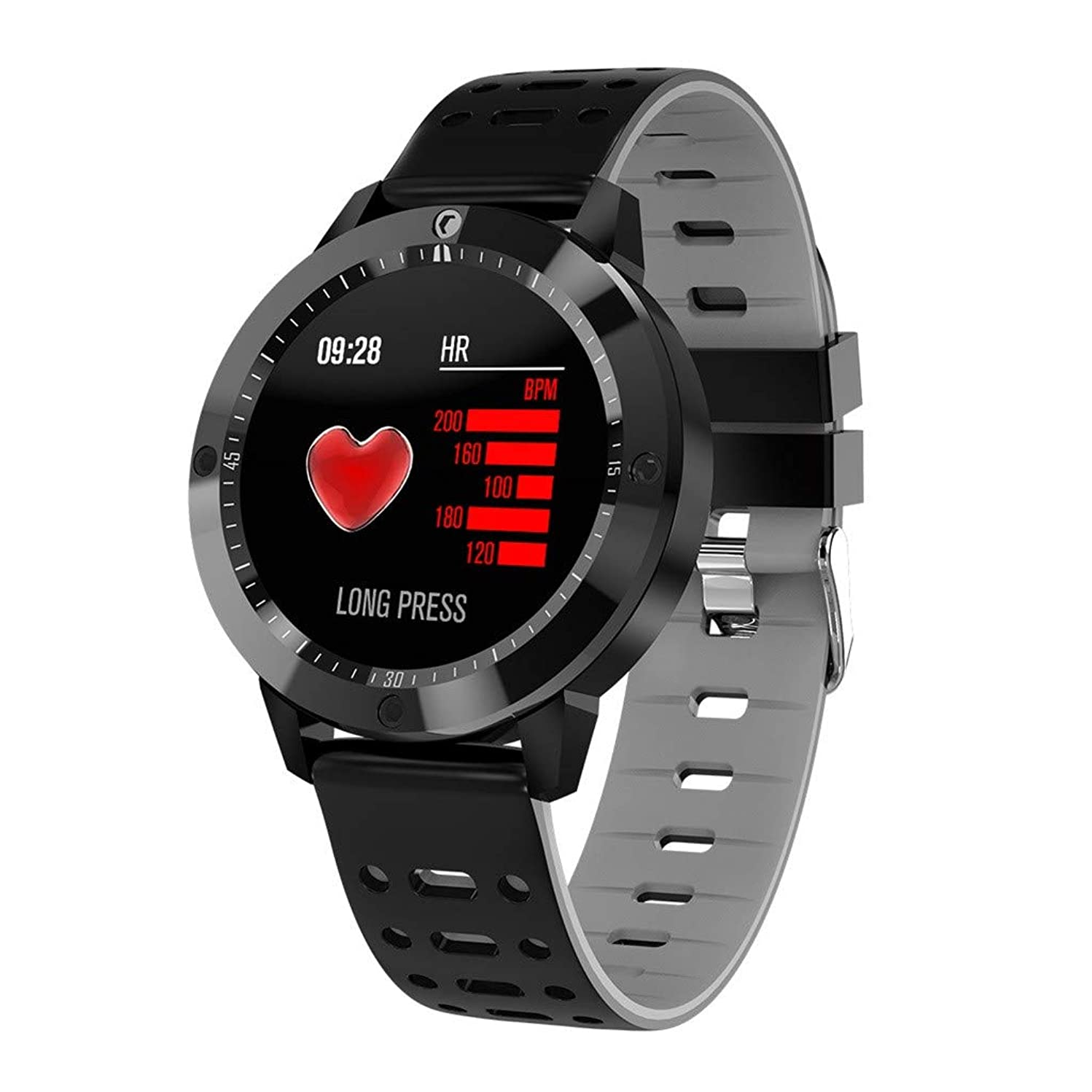 JDgoods CF58 Heart rate /Blood Pressure /Blood Oxygen Monitor Waterproof Smart Watch Compatible For Android & iOS (Gray)