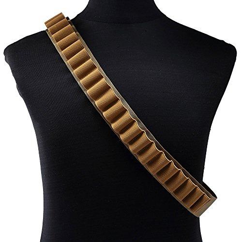 Papamsy ?Portable Outdoor 27 Kugel Tasche Shotgun Shell Halter Gürtel Sling Patronengürtel|3 Farbe|Khaki