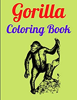 Gorilla Coloring Book: Creative and Imagination Inspired Coloring Pages with Animal Prints and Jungle Mandala Patterns
