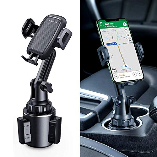Cup Holder Phone Mount, Upgraded Long Neck Never Shake Heavy Duty Cup Base Car Phone Holder Cradle Car Mount for iPhone 11 Pro/XR/XS Max/X/8/7 Plus/6s/Samsung S10/Note 9/S8 Plus/S7,GPS etc