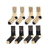 TTD 4 paquetes Calcetines de moda callejera Calcetines de algodón de tubo Travis Scott para hombres y mujeres medias de skate