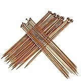Best Knitting Needle Sets - STOBOK Bamboo Knitting Needles Set 36Pcs 18 Sizes Review