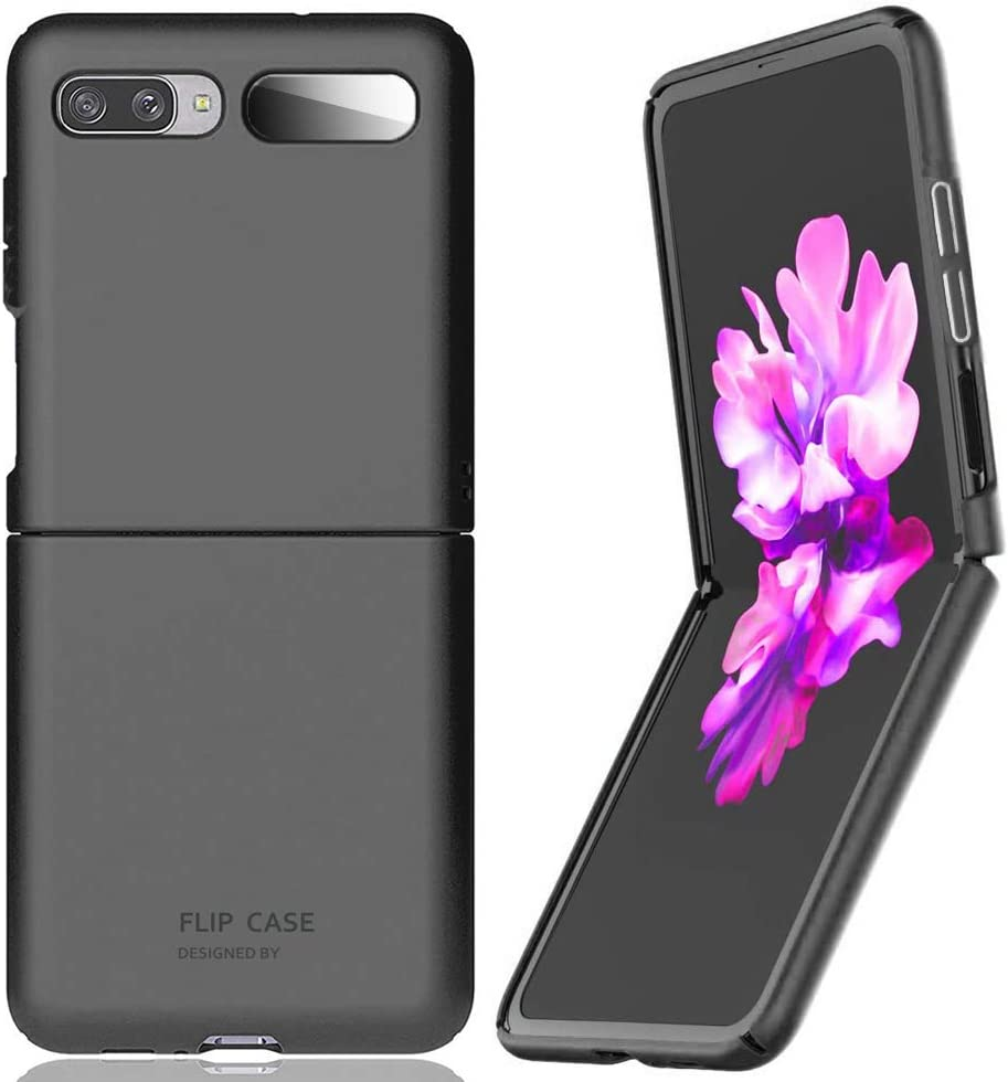 for Samsung Galaxy Z Flip(5G Compatible) Case Cover Ultra Thin Hard Shell Slim Full Protection(Black)【Not for Z Flip 3】