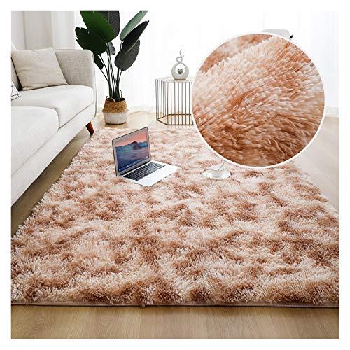HAUSHAIT Alfombra Suave para la Sala de Estar alfombras esponjas esponjas alfombras de decoración de Dormitorio Área de decoración Larga Alfombra Antideslizante. (Color : A5, Size : 120x160cm)