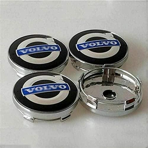 4pcs Coche eje de la rueda Tapas centrales para Volvo S40 S60L S80L XC60 XC90, a Prueba de Polvo Decorativa Accesorios De Estilo