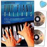 Musikverlag EH3859-9783866262751 Pop Piano Ballads Volume 3 à 40 meilleurs ballads, arrangés pour piano – 2 CD et avec pince pour partitions en forme de cœur colorée