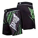 TapouT 4 Way Stretch Performance Fight Shorts (Green, 30)