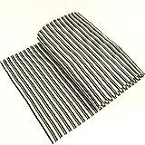 Bündchen Streifen grau schwarz weiß Schlauchware