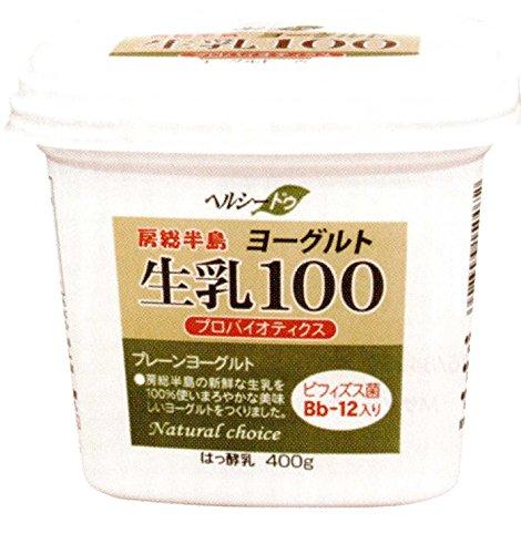 生乳100ヨーグルトプレーン 400g 【冷蔵】/千葉酪農(2パック)