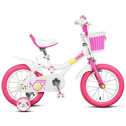 Children's bike Bicicleta de los niños, Muchachas 12/14/16/18 Pulgadas de la Bici, niño 2-6 Pedal del niño de los años (Color : Pink and White, Tamaño : 100cm)