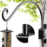 AJART Bird Feeder Hanger of Swivel Hanging Plant Bracket for Outdoor(16 inch/Black) More Suitable for Outside birdhouses Plant Hooks