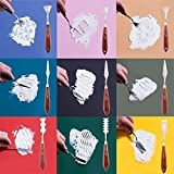 WISAMIC 12 pcs Malmesser Malspachtel Künstler Set – Farbe Schaber Edelstahl für Acryl und Öl - 9