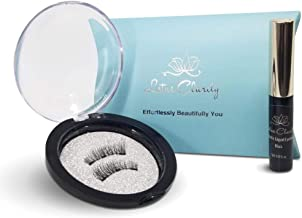 Lotus Clarity Magnetic Eyeliner and False Eyelashes,1 Pair, Professional Fake Long Eye Lashes Enhancer Pack Cruelty Free Natural No Glue Certified FDA Reusable Liquid Liner Extension Similar to Moxie