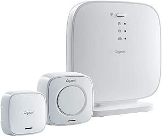 "Gigaset 入门级套装 - 房屋警报系统 - 带大声报警,门报警 - 与Alexa 和 Google Assistant 一起使用 - Smart Home 系统 - 入门千兆 警报系统L36851-W2551-B111 Einsteigerset""Türalarm und Sirene"" security pack weiß""Alarmsirene + Türsensor Set"""