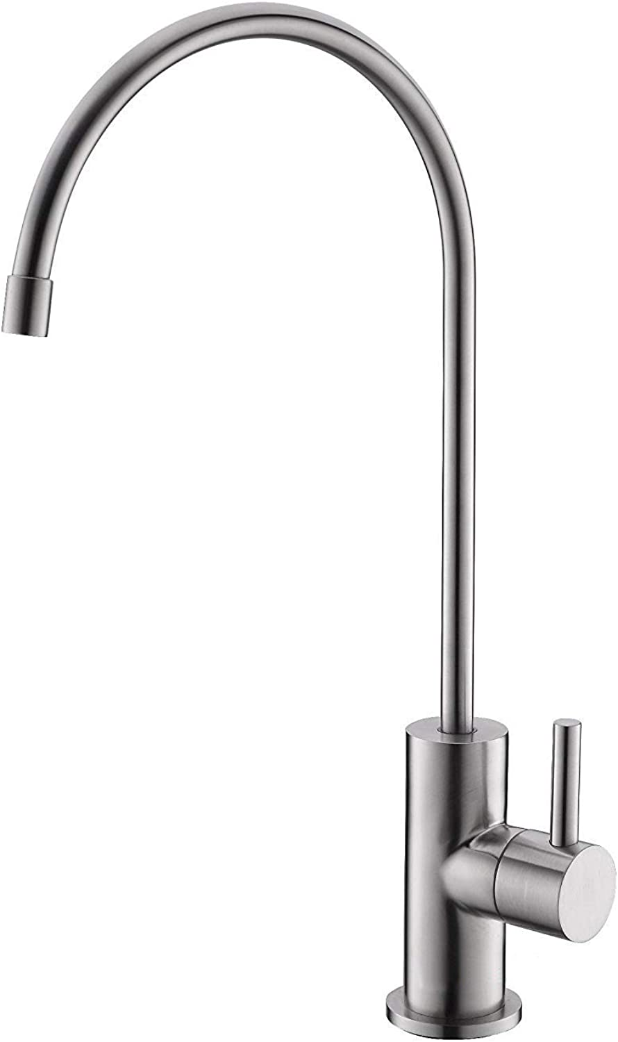 Tap Stainless Steel Reverse Osmosis, Drinking Water, Water Purifier faucet,fit for 1 4 &3 8  tubing,Brushed Nickel