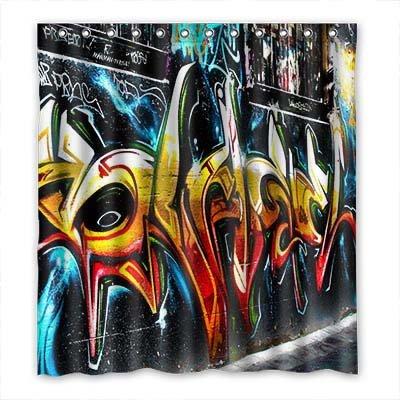 Dalliy Brauch graffiti Wasserdicht Polyester Shower Curtain Duschvorhang 167cm x 183cm