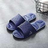 MLLM Uso Al Aire Libre Baño Sandalia,Zapatillas de casa de Pareja, Pantuflas sin Fondo Suaves Antideslizantes-Blue_40-39,Playa para Hombre Zapatillas de Estar