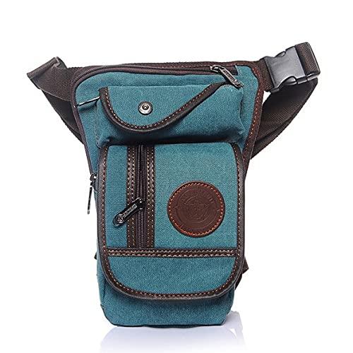 Bolsa Pierna Moto Pernera Moto Riñonera Bolso de la pierna de la lona de los hombres Motocicleta Mensajero Mensajero Bolsas de hombro Cinturón HIP BUM Cintura Fanny Pack 972 ( Color : Light Blue )