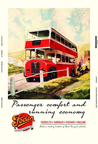 Schatzmix Foden bus tour reclame metalen bord 20x30 cm wanddecoratie tin sign blikken bord, blik, meerkleurig
