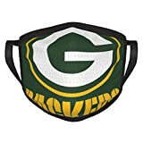 Green Bay Pac-KERS Football Unisex Reusable Face Mask for Sports Fans Anti-Dust Masks Mouth Scarf Women Men Balaclava Face Protection for Outdoor