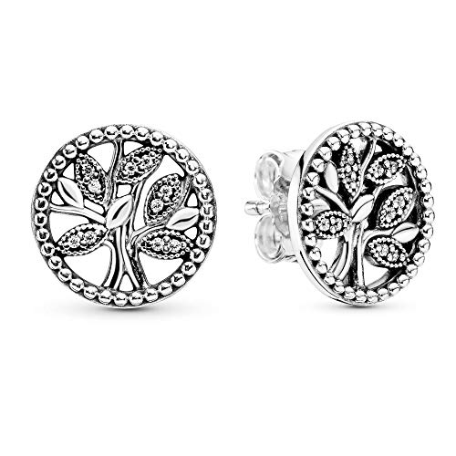 Pandora Women Silver Stud Earrings 297843CZ
