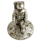 NASA Astronaut Pen Stand and Cell Phone Holder – Phone Desk Stand and Pen Holder – Phone Stand Holder for Office and Home – Vintage Astronaut Statue Holder – Cell Phone Holder (Antique Pewter)