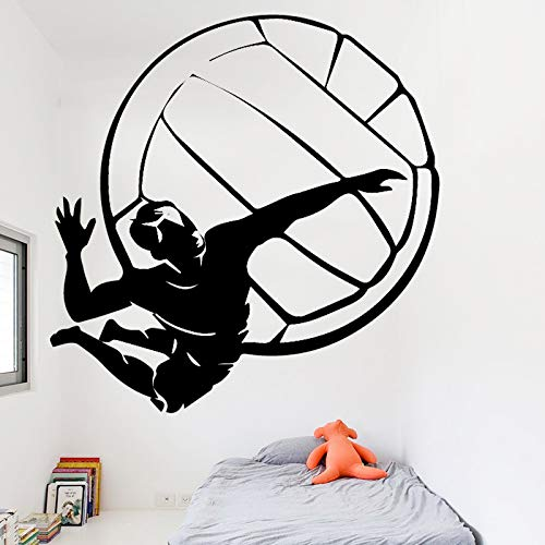 TYLPK Volleyball Player Wall Stickers Detachable Waterproof