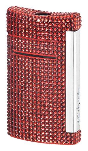S.T. Dupont S.T. Dupont Minijet Feuerzeug,Motiv: Schwarzer Totenkopf Swarovski Red Swarovski Red
