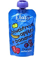 Ella's Kitchen Organic Puree, Blueberries, Apples And Bananas, 120g (Pack of 1)