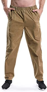 Men's Full Elastic Waist Lightweight Workwear Pull On Cargo Pants