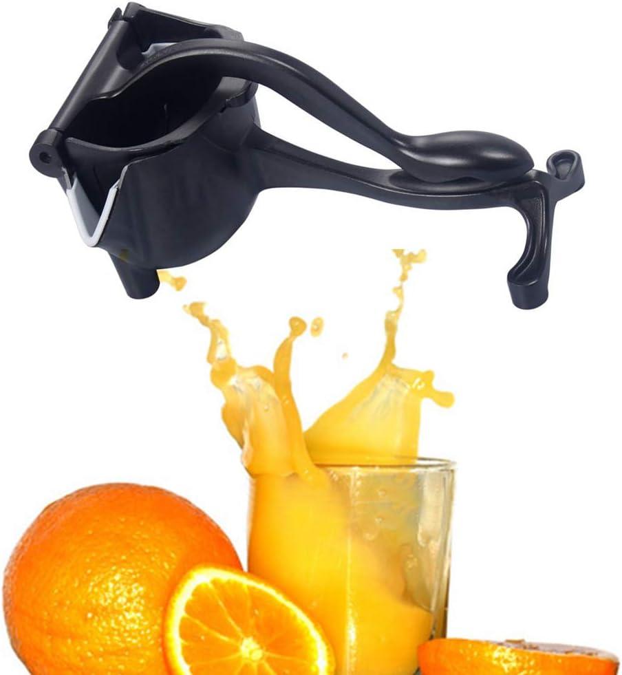 BUIDI Exprimidor Manual de cítricos extraíble Exprimidor de limón Exprimidor de limón Negro Premium limón Hecho a Mano Rojo
