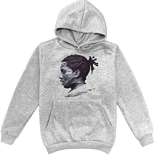 A.S.A.P. Rocky Swaggy Head Grauer Unisex Sweatshirt Hoodie Pullover Medium