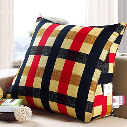 Coussins triangulaires, Coussins de canapé de chevet, Oreiller de taille de lecture, lavable (Couleur : B, taille : 60 * 22 * 50cm)