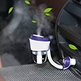 Car Humidifier, Venkaite Ultrasonic Wave Car Air Humidifier and Aromatherapy Essential Oil Diffuser
