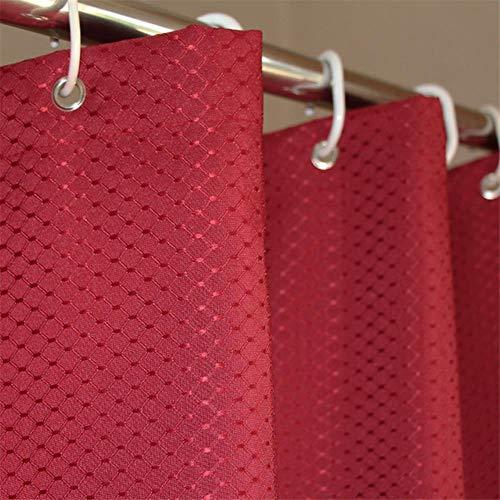 CDFD Delicate jacquard polyester douchegordijn Effen kleur Waterdicht Badkamer Douchegordijn Hotel Wc-scheidingswand, rood, B100xH180cm