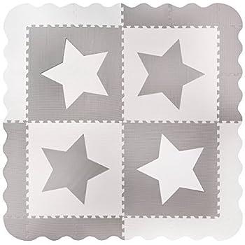 Alfombras de juego con bordes Total 1.2m2. Alfombra para jugar al beb/é con espuma gris 4 enclavamiento grande con azulejos de jirafa Cada azulejo 60 x 60 cms