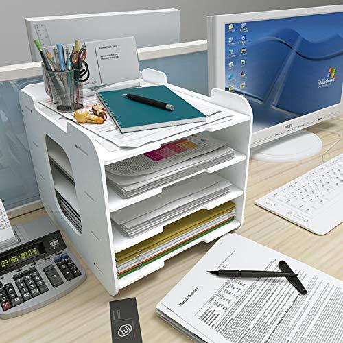Revistero Archivos,Organizador de Documentos Desktop Storage Box,Estantes para estantes de archivos,carpetas de escritorio de múltiple capa,cajas de almacenamiento,escuela,escritorio,caja organizadora