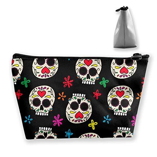 Mexikanische Zuckerschädel Design Kosmetikbeutel Toilettenartikel Reiseetui Veranstalter