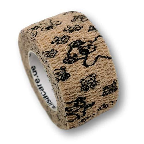 LisaCare Pflasterverband, Wundpflaster, Kinderpflaster, Pflaster auf Rolle, elastisch & ohne Kleber, 2,5cm breit (2er Packung, Teddy)
