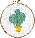 Vervaco Marco Cactus I, Cruz Cruz, algodón, Multicolor, 14,5x 14,5x 0,3cm