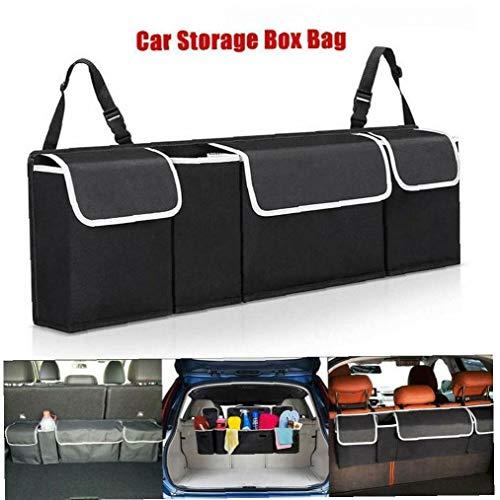 Car Boot Organiser Large Storage Bag Pocket Back Seat Hanger Tidy Travel Hanging