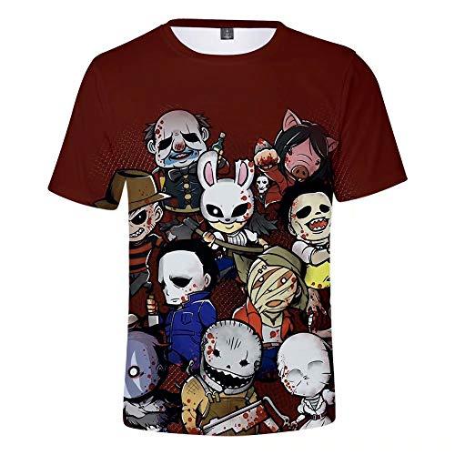 Dead by Daylight Camisetas con Estampado 3D Camisetas de Manga Corta con Estampado 3D Unisex con Estilo para Mujeres, Hombres, Cuello Redondo Casual Suave Dead by Daylight Tops tee