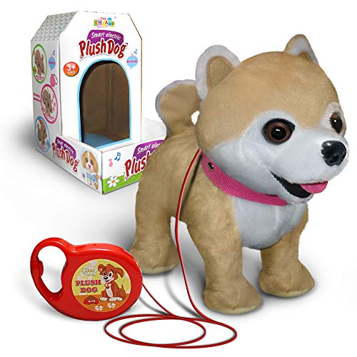 Kids Walking and Barking Puppy Dog Toy Pet with Remote Control Leash (Mauve)