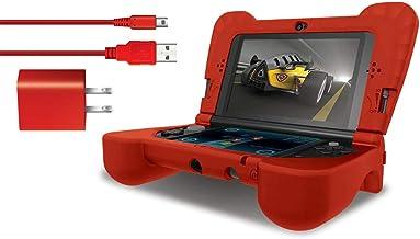 Dreamgear Dg3dsxl-2275 Kit Power Com Protetor Em Silicone Para Nintendo New 3ds Xl, Dreamgear, Vermelho - Android