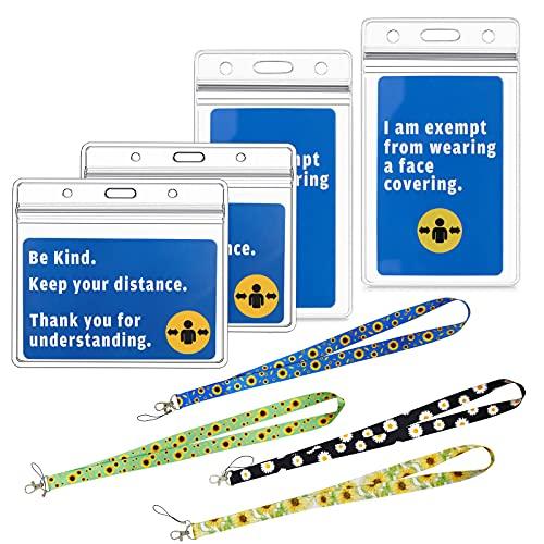 Sdoowes 4 pcs de tarjetero 10x8,5 11,4x7cm funda protectora para tarjeta de vacunación Tarjetero para DNI Tarjetero para manual de vacunación internacional con cordón y ficha impermeable transparente